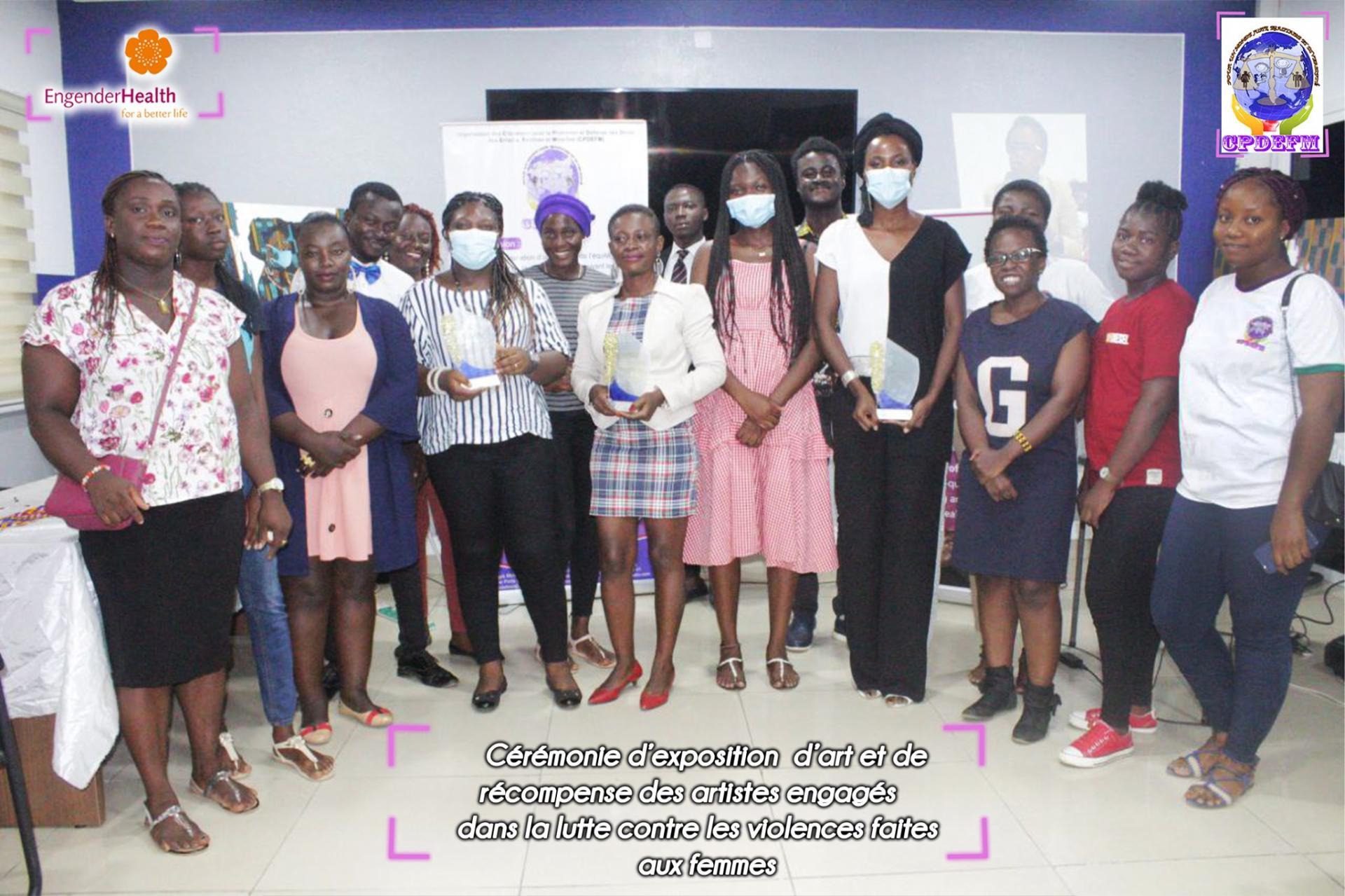 Cérémonie de distinction des Artistes engagés contre le Violences faites aux femme en Côte d'Ivoire
