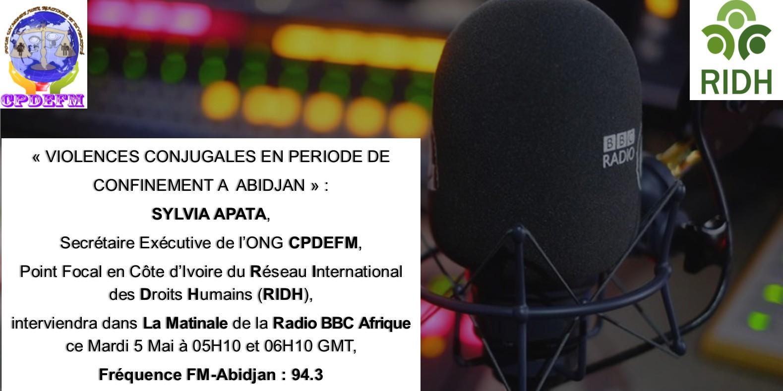 Affiche intervention sur bbc afrique